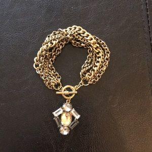 Multi chain gem bracelet